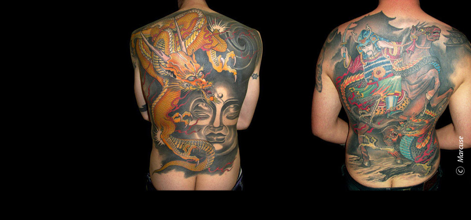 Marcuse | Smilin� Demons Tattoo Studio | tattoo gallery : two backs in japanese style